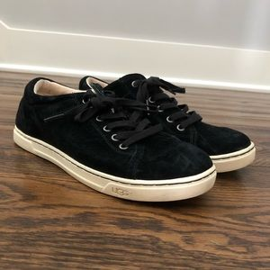 Ugg Black Suede Lace Up Sneakers